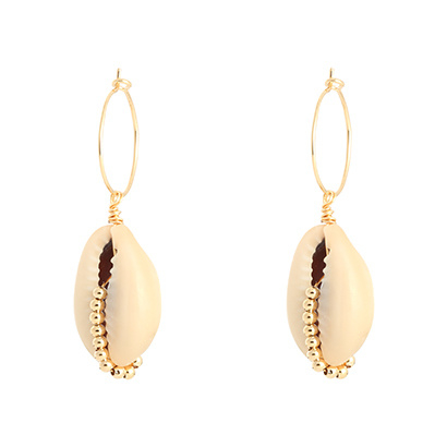Hoops Shell Beads - Gold