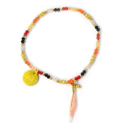 Mini Crystal Beads - Rood, Zwart & Goud