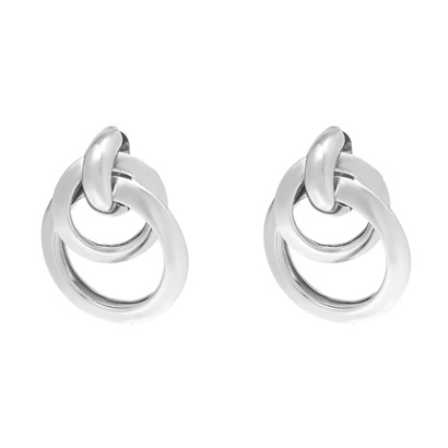 Oorhangers met 2 ringen - Zilver