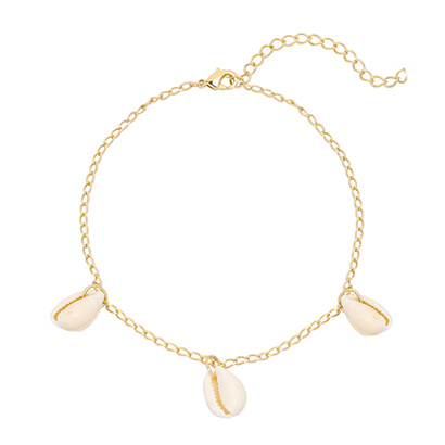 Ankle Strap - Shell & Gold