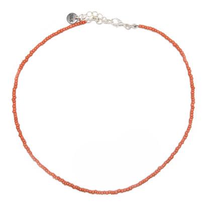 Ketting Kleine Kraaltjes - Licht Roze/ Oranje