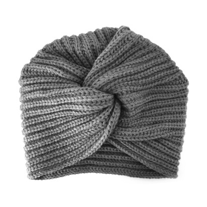 Winter Gebreide Tulband Muts - Grijs