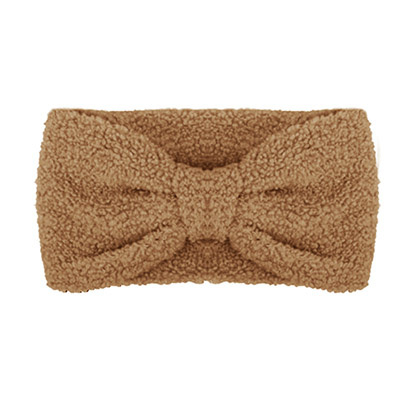 Winter haarband fluffy teddy bruin