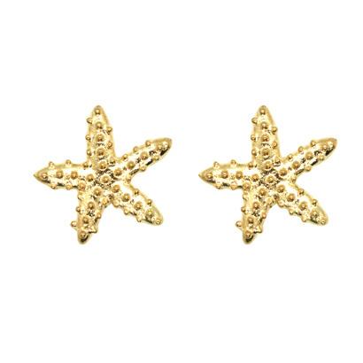 Studs zeester - goud