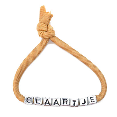 Armbandje met Naam - Beige