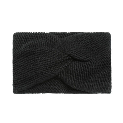 Winter Haarband Soft - Zwart