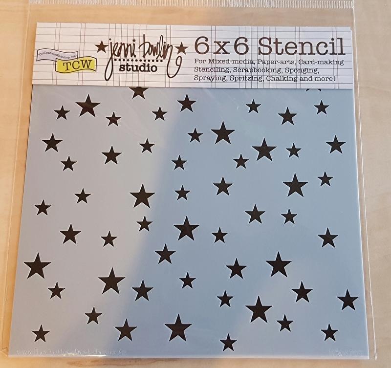 Stencil stars en sterren 15 x 15 cm