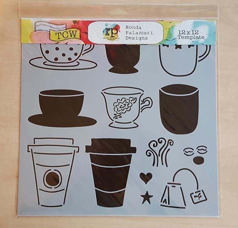 Sjabloon koffie, thee en others 30 x 30 cm