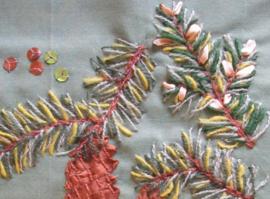 Kerstbloeiers patroonbladen (digitaal)