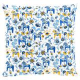 Zweedse paardjes blauw-geel, per halve meter