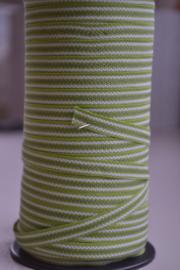 Groen-wit gestreept,   prijs per meter