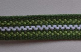 Groen gestreept,   prijs per meter