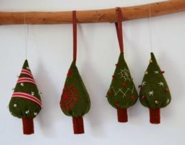 Kerstboompjes (3 stuks)