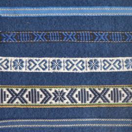 Blauw- beige gestreept, prijs per meter
