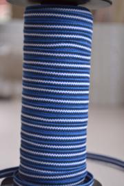 Blauw gestreept, donker,  prijs per meter