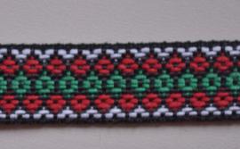 Zwart-rood-groen.  Prijs per meter