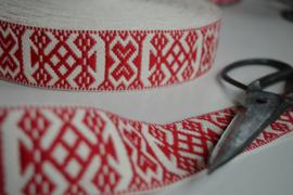 Allmogeband, rood