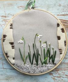 Botanisch of zijdelint borduren
