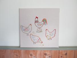 Wandpaneel Kippen
