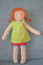 Pippi kleertjes (broekje + schortjurk)