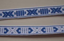 Folkloreband blauw-wit.   Prijs per meter