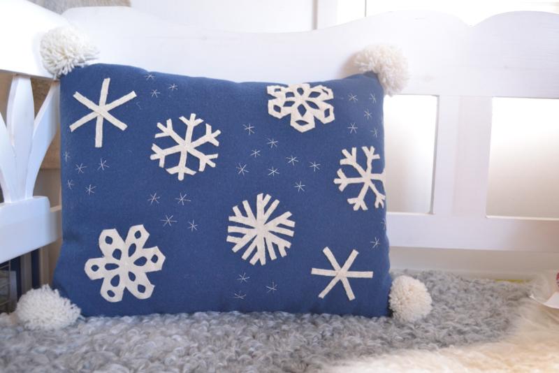 Kussen Sneeuwkristal