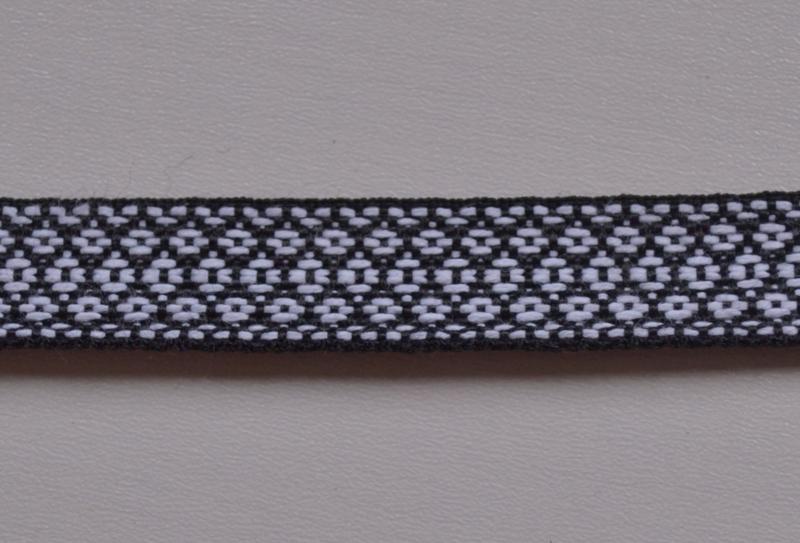 Zwart wit geruit.  Prijs per meter