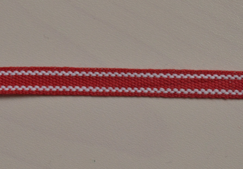 Rood-wit gestreept,  prijs per meter