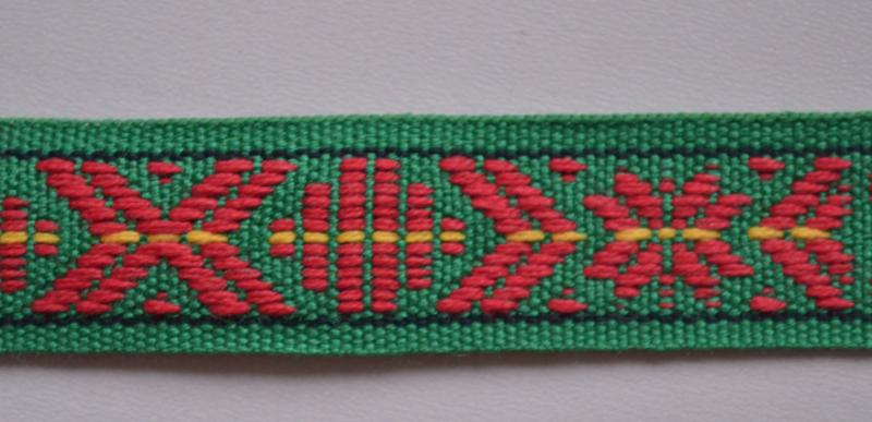 Groen-rood.   Prijs per meter