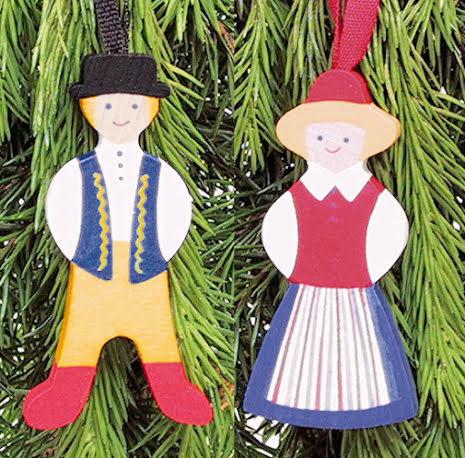 Set houten popjes in klederdracht