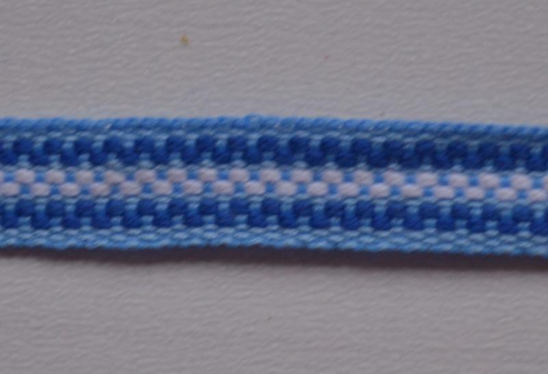 Blauw gestreept, prijs per meter