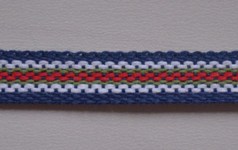 Blauw-wit-rood gestreept,  prijs per meter