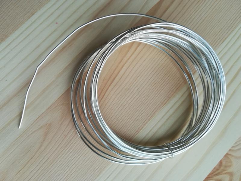 Zilverdraad voor hangers