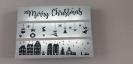 Merry christmas, Lichtbak vellen