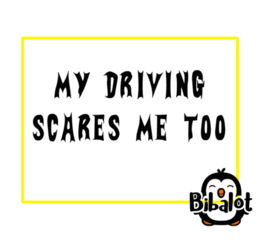 My driving scares me to| Auto Stickers
