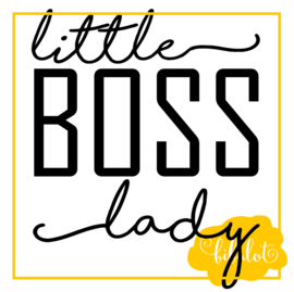 Little boss lady | Strijkapplicatie