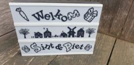 Welkom Sint & Piet - Lichtbak vellen
