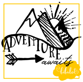 Adventure awaits | Strijkapplicatie