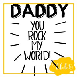 Daddy you rock my world | Strijkapplicatie