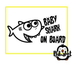 baby shark on board| Auto Stickers