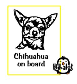 Chihuahua on board| Auto Stickers