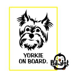 Yorkie on board| Auto Stickers