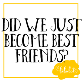 Did we just become best friends? | Strijkapplicatie