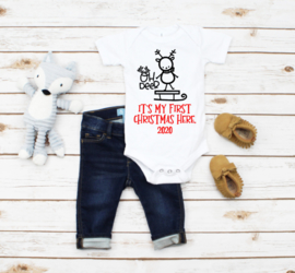 Oh deer its my first christmas here.| romper