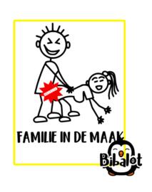 Familie in de maak | Auto Stickers