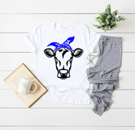 cow with bandana