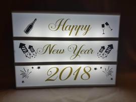 Happy New Year - Lichtbak vellen