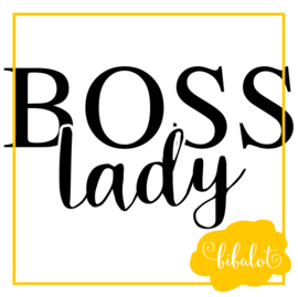Boss lady | Strijkapplicatie