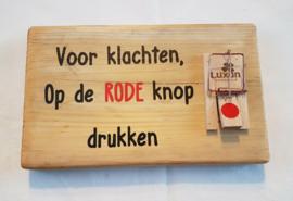 Druk op de rode knop