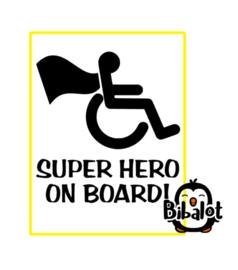 super hero on board | Auto Stickers